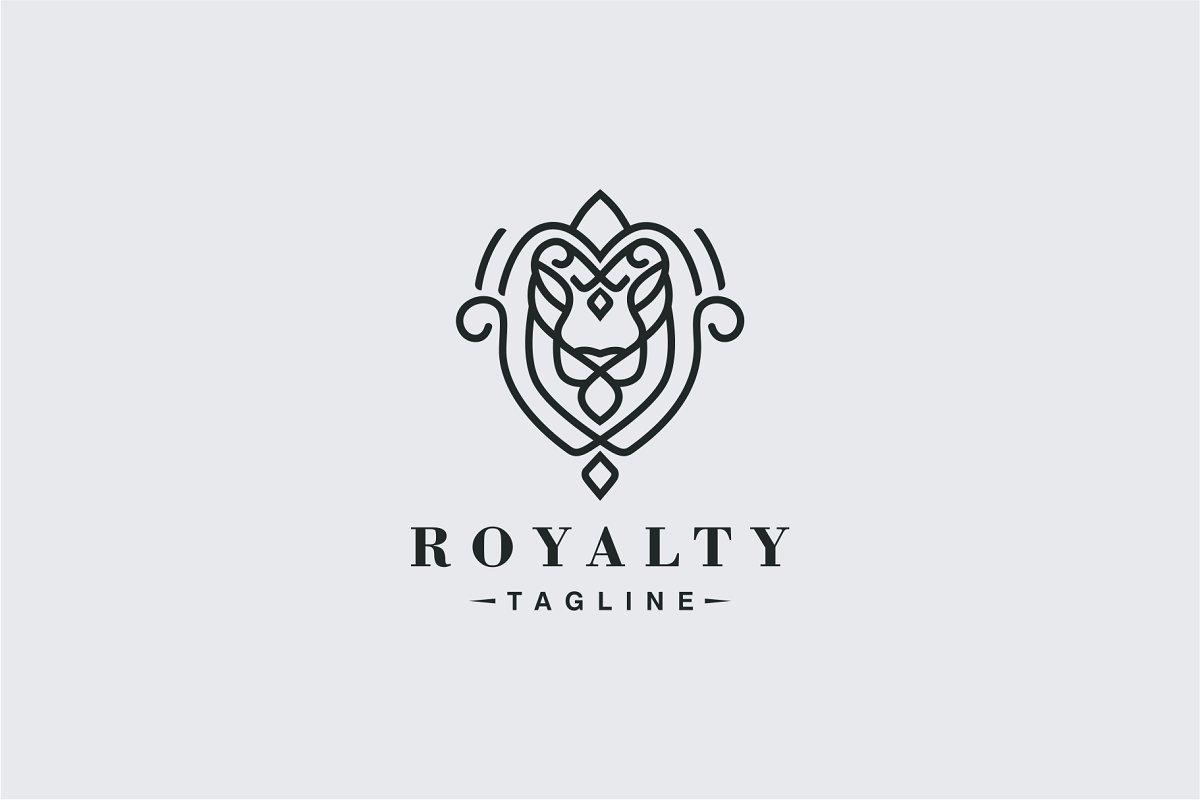 Luxury Lion Head Logo