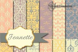 Jeanette Pastels Digital Paper pack