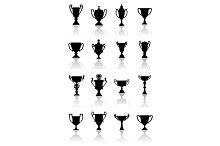 Trophy cups set