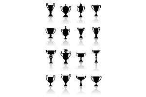 Trophy cups set
