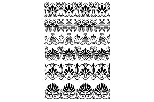 Vintage black and white ornamental b