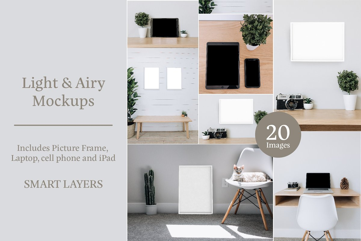 Light & Airy Mockup Bundle in Scene Creator Mockups - product preview 8