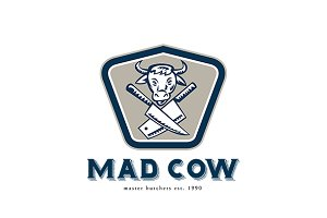 Mad Cow Master Butchers Logo