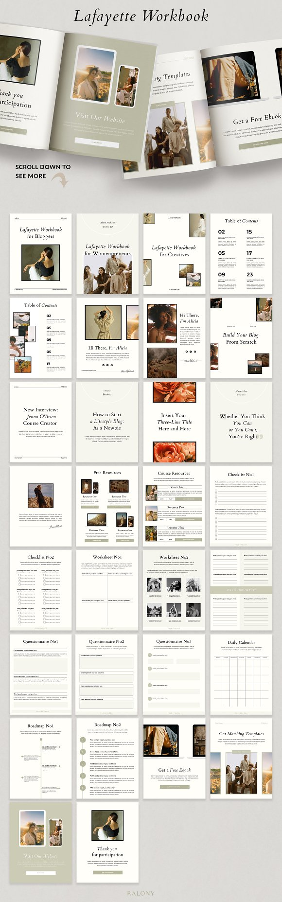 Course Creator Workbook | Lafayette in Magazine Templates - product preview 11