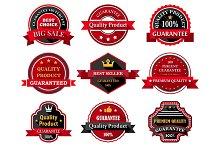 Flat quality product guarantee badge