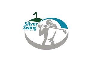 Silver Swing Golfer Logo