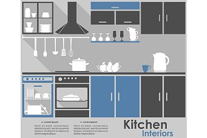 Kitchen Interior infographic design