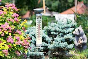 Modern stylish outdoor thermometer i