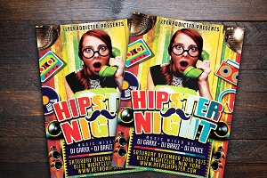 Hipster Night Party Flyer