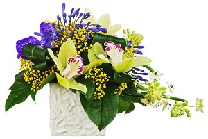 Bouquet from orchids and Arabian Sta