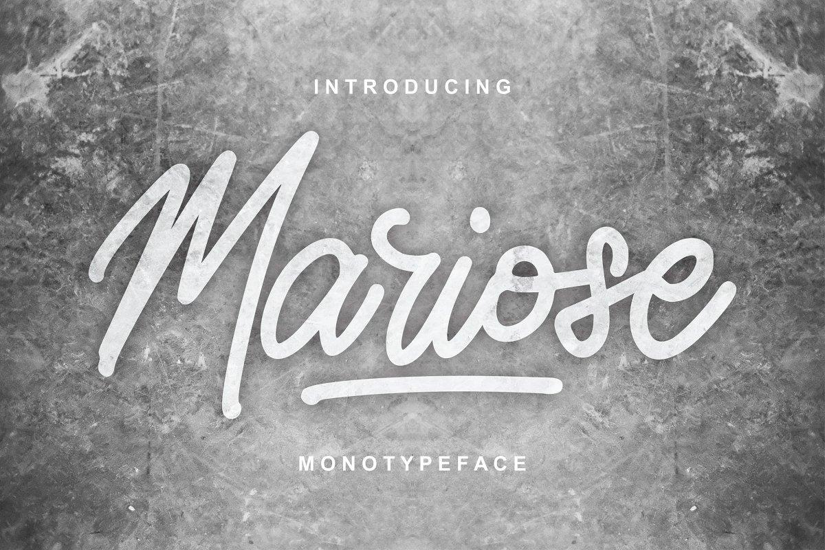 Mariose | Monotypeface Script Font