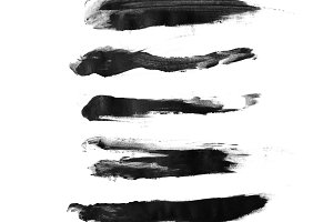 Black brush strokes collection
