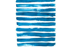 Blue brush strokes collection
