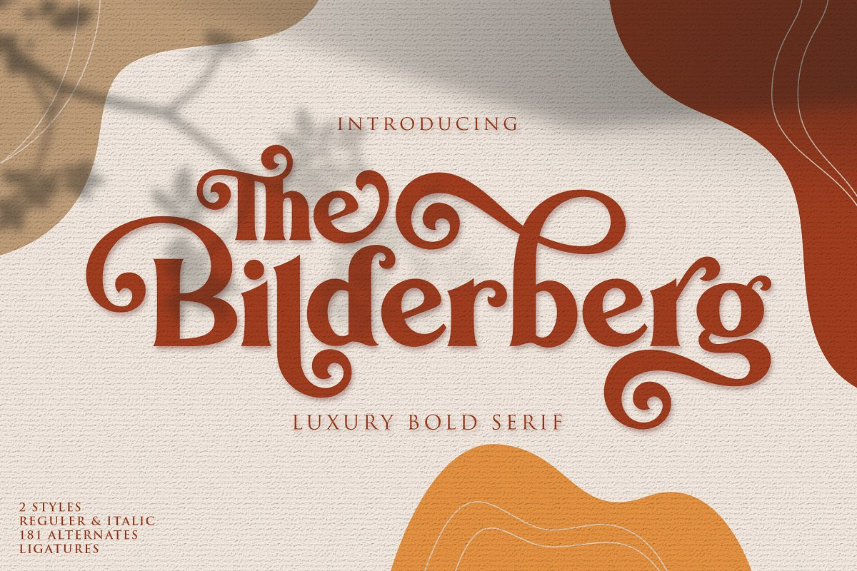 Bilderberg | Luxury Bold Serif