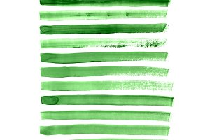 green brush strokes collection