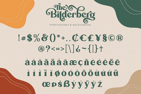 Bilderberg   Luxury Bold Serif in Serif Fonts - product preview 16
