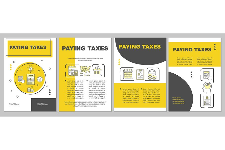 Paying taxes brochure template