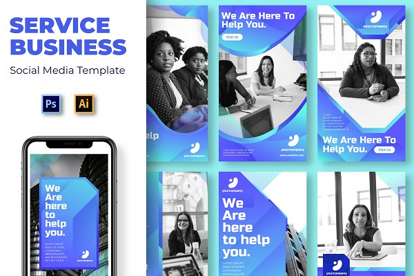 Service Business Social Media Templa