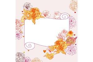 Floral card, floral clip-art