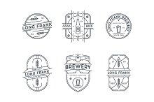 Line brewery badges.
