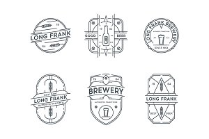 Line brewery badges.