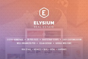 Elysium - Real Estate PSD Template