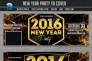 New Year Party Facebook Covers