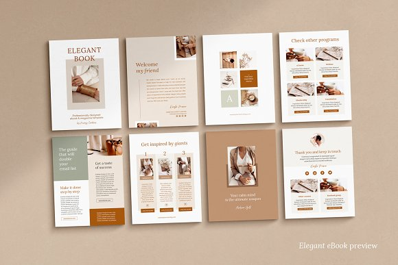 eBook duopack / CANVA, INDD in Magazine Templates - product preview 13