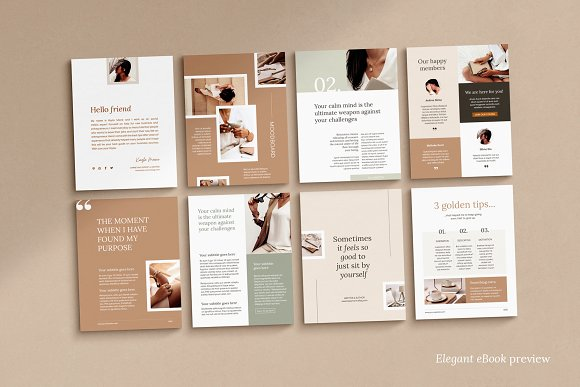 eBook duopack / CANVA, INDD in Magazine Templates - product preview 14