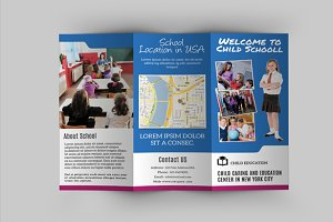 Trifold brochure for School -V293