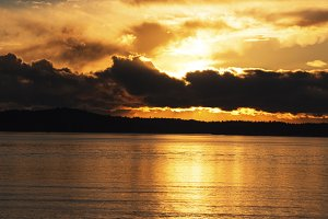 Sunset Over the Puget Sound  1