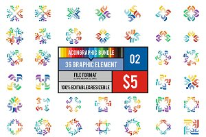 36 Graphic Element Bundle #2