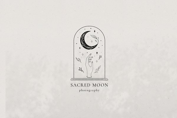 Sacred Moon Logo Templates Kit