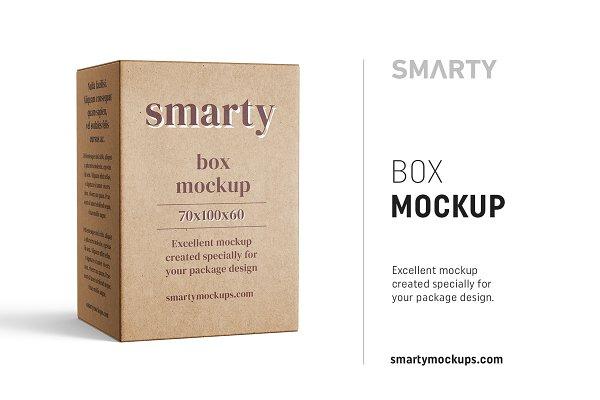 Box mockup 70x100x60