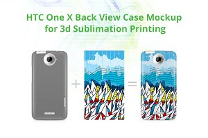 HTC One X 3dCase Back Mock-up