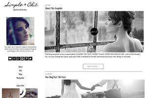 Blogger Template - Simple & Chic
