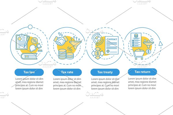Taxes system vector infographic
