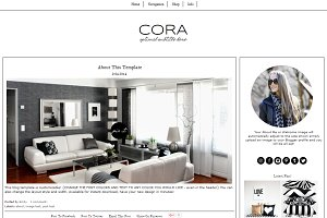 Blogger Template Black & White Cora
