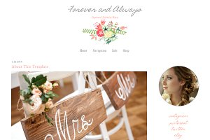 Blogger Template Vintage Flower