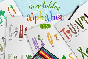 Vegetables alphabet