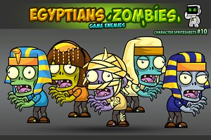 Egyptian Zombies Character Sprites