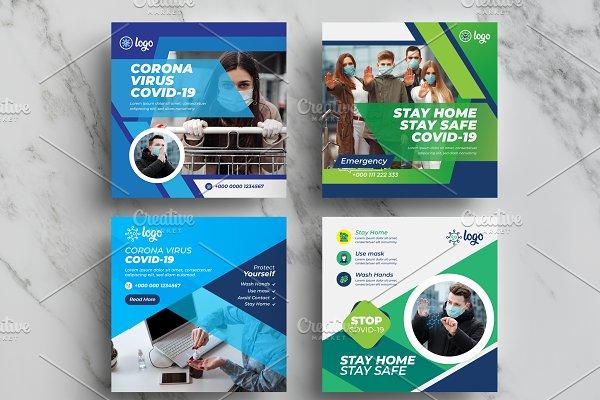 COVID-19 Social Media Templates Pack