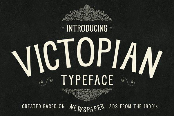 VICTOPIAN - A Vintage Typeface