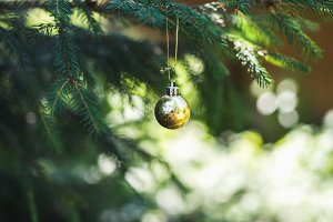 Christmas golden toy ball