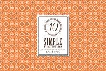 Set of 10 simple patterns Vol. 1