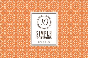 Set of 10 simple patterns Vol. 1