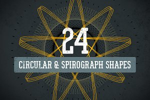 Circular & Spirograph Vector Pack 1