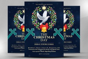 The Christmas Day For Church Flyer
