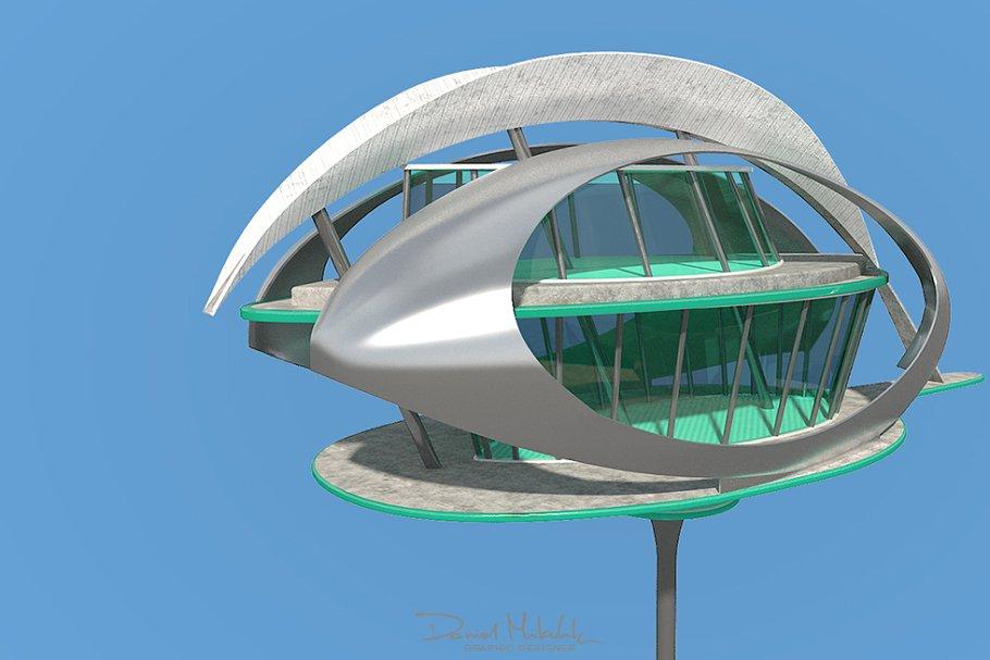 Futuristic Architecture Skyscraper 7