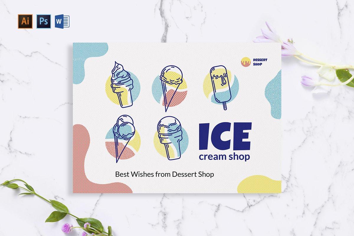 Ice Cream Shop Greeting Card